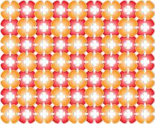 red and orange flowers - stock illustration