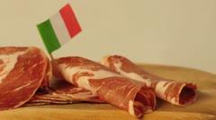 Ham of Italy Coppa stagionata Stock Footage