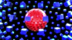 Square Sphere (2 of 4) Stock Footage