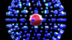 Square Sphere (4 of 4) Stock Footage