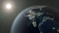 Mir orbit space station Stock Footage