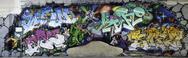Big graffiti panorama Stock Photos