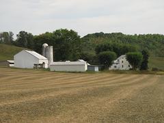 Peaceful Farmland - stock photo