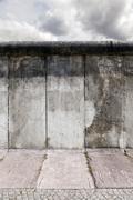 East-west berlin original wall section Stock Photos