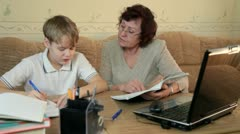 Home schooling Stock Footage