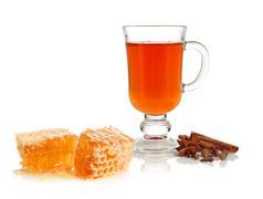 Tea, spice and honey Stock Photos