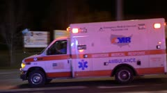 Ambulance Driving To Hospital Stock Footage