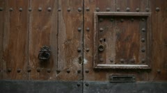 Antique door Stock Footage