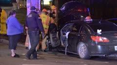 Car Crash Scene Stock Footage