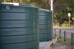 Rainwater tanks - stock photo