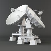 Communiation. satellite dish on grey background. 3d Stock Illustration