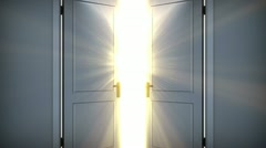 Heaven doors opening. Beautiful Sun and clouds are loopable. HD 1080. - stock footage