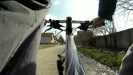 Mountain bike in the town Stock Footage
