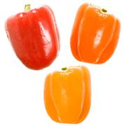 colorful sweet peppers - stock photo