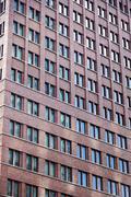Tilted building windows pattern Stock Photos