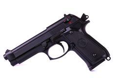 isolated airsoft gun - stock photo