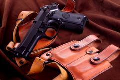 Isolated airsoft gun Stock Photos