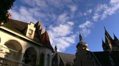 Romantic castle - Rothschildschloss - Waidhofen an der Ybbs Stock Footage