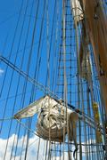 old sailing ship - stock photo