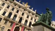 Stock Video Footage of Vienna Hofburg and statue