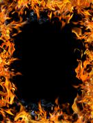 Bonfire frame Stock Photos