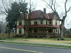 Victorian Home -- Snow Stock Footage