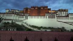 Potala Palace in Lhasa, Tibet Stock Footage