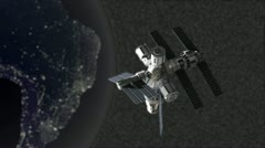 Space station spacestation orbit Stock Footage