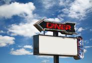 Diner sign Stock Photos