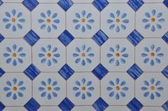 Floral motif on ceramics Stock Photos