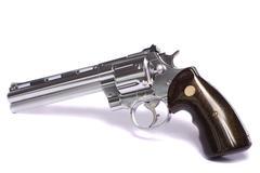 Airsoft gun in white Stock Photos