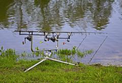 carp rods - stock photo