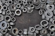 Stock Photo of Nuts and washers exposure