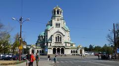 St Alexander Nevsky Cathedral, Sofia Stock Photos