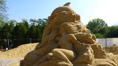 Sand Sculpture Festival, sofia - stock photo