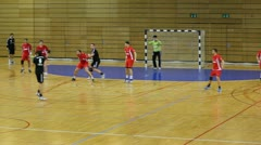 Handball attack Stock Footage