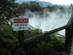 Thermal pool Rotorua - stock photo