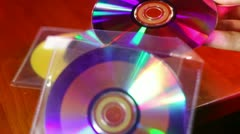 Burned cd Stock Footage