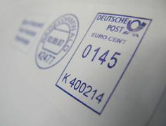 Postmark 145 cent for large letter central cost Stock Photos