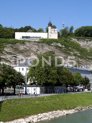 Stock photo of museum austria city tourism trip contrast river