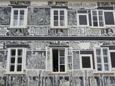 House facade paintings austria horizontal format Stock Photos