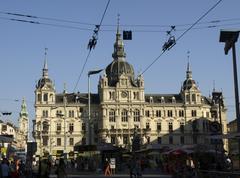 City hall austria horizontal format actual Stock Photos