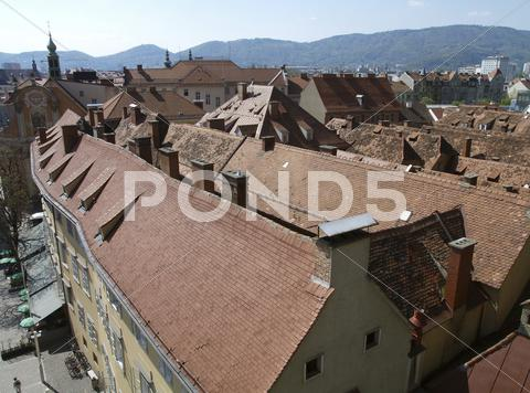Stock photo of graz old city center austria tourism trip view