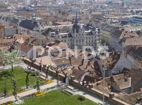 Stock photo of graz old city center hall austria tourism trip