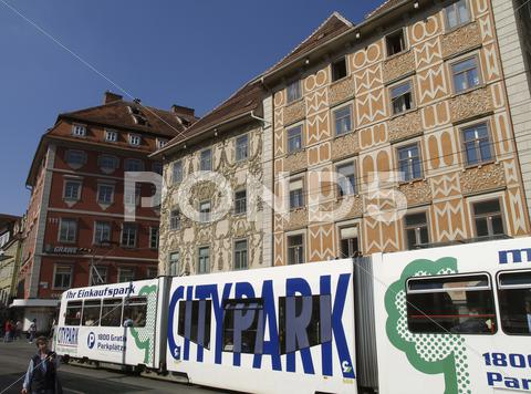 Stock photo of graz old city center main square austria tourism