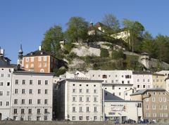 Salzburg City view Itävalta turismi trip-muodossa Kuvituskuvat