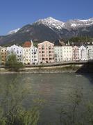 Innsbruck old city center mountain nordkette inn Stock Photos