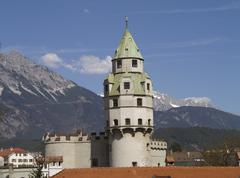 Torni antiikin Itävalta vaaka-muodossa maamerkki Kuvituskuvat