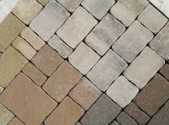 Stock Photo of abstract design pattern paving stones assembly