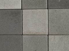 abstract design pattern paving stones assembly - stock photo